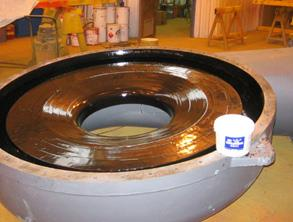Blower housing repaired using Belzona 4341 (Magma CR4)