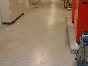 Clearing of newly constructed plant room floor