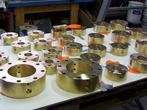 Valves awaiting gasket